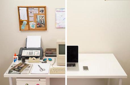שולחן העבודה: הבדל של שלושה עשורים