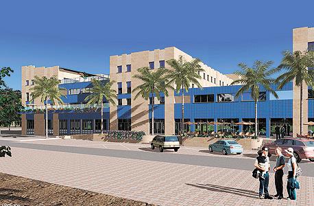 הדמיה של בנייני המעונות החדשים במכללה