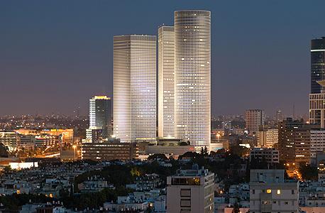 תל אביב בניין בניינים עזריאלי עיר , צילום: שאטרסטוק