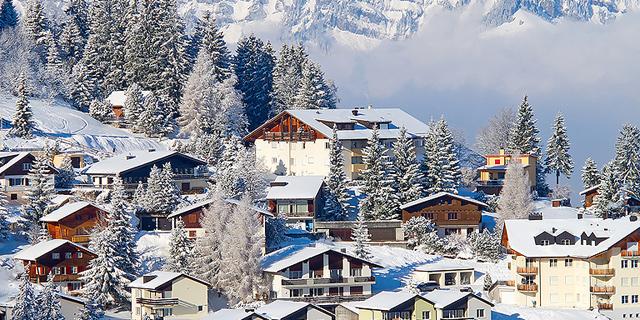 עיירת סקי בשוויץ, צילום: שאטרסטוק