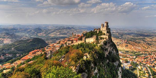 סאן מרינו. אחת מהמדינות הקטנות בעולם ששוכנת בהרי האפנינים באיטליה, צילום: Flickr/Marcus Puschmann