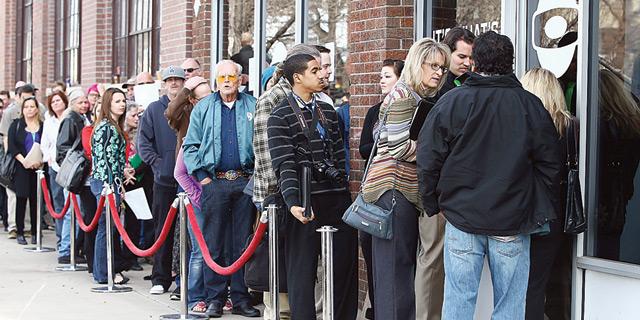 יריד תעסוקה בקולורדו, צילום: בלומברג