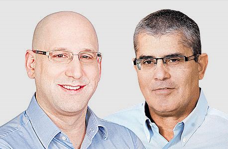 """מימין חיים רומנו מנכ""""ל פרטנר ו ניר שטרן מנכ""""ל סלקום, צילום: אוראל כהן, סיון פרג'"""