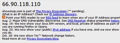 בדקו את כתובת ה-IP שלכם באתר ShowMyIP