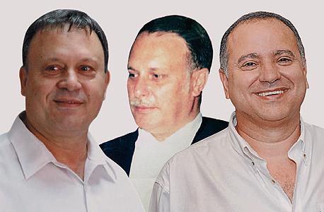 מימין קובי מימון, רוברט ארקנס וחיים צוף, צילום: ישראל הדרי, אוראל כהן