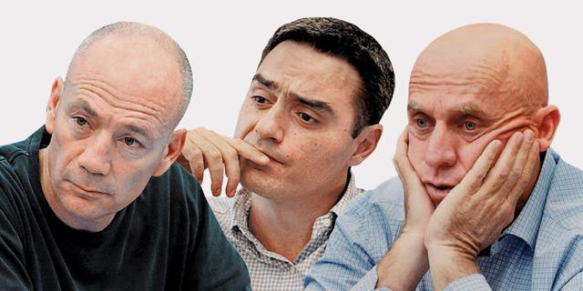 מימין יוסי ורשבסקי, אבי צבי ואבי ניר, צילום: נועם מושקוביץ