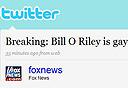 דף הטוויטר של פוקס ניוז לאחר שנפרץ, צילום מסך: twitter.com