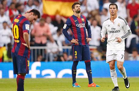 רונלדו נגד ברצלונה. לריאל מדריד 92 ניצחונות בקלאסיקו, לברצלונה 89