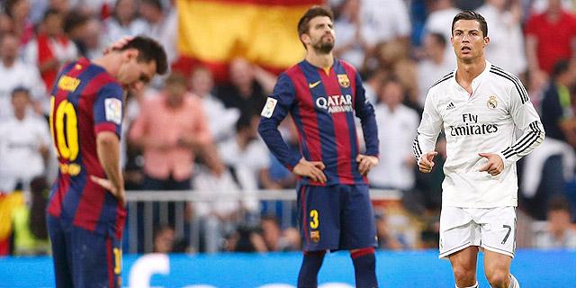 רונלדו ומסי. פוסט ממוצע של שחקן נבחרת פורטוגל שווה 143,750 דולר בפרסום למותג אותו הוא מקדם, שיעור כפול פי 4 לעומת פוסט של מסי, כך עולה ממחקר שערכה חברת הייעוץ הגרמנית רפוקום, צילום: רויטרס