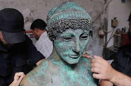 איביי פסל יווני בעזה, צילום: רויטרס