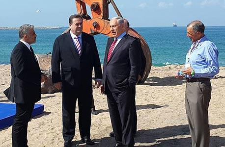 טקס הנחת אבן הפינה בנמל אשדוד החדש, צילום: ליאור גוטמן
