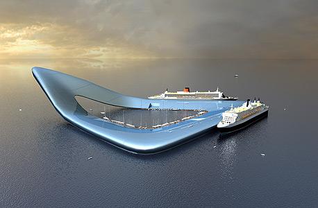 """הנמל הצף שאלטהיוס תכנן עבור ממשלת דובאי. """"ככל שהפרויקט גדול יותר הוא גם יציב יותר"""""""
