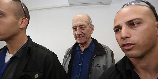 """אהוד אולמרט בבית המשפט. זקן: """"כעסתי עליו מאד"""", צילום: גיל יוחנן, ynet"""
