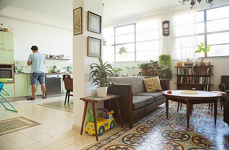 הסלון והמטבח, צילום: תומי הרפז