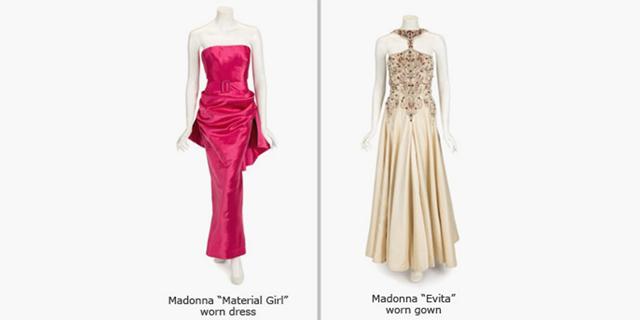 פריטי הלבוש של מדונה המוצעים למכירה