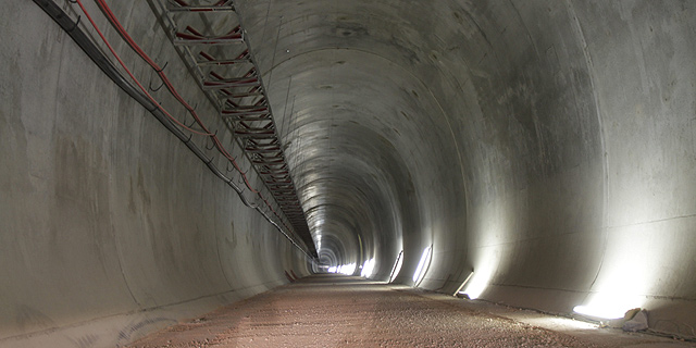 המנהרה לרכבת המהירה לירושלים, צילום: אלכס קולמויסקי