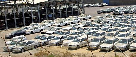 חניון מכוניות בנמל אילת