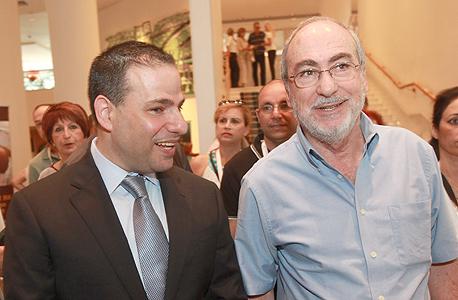 מימין אשר גרוניס נשיא בית המשפט העליון ו דורון ברזילי ראש לשכת עורכי הדין, צילום: יוסי זמיר