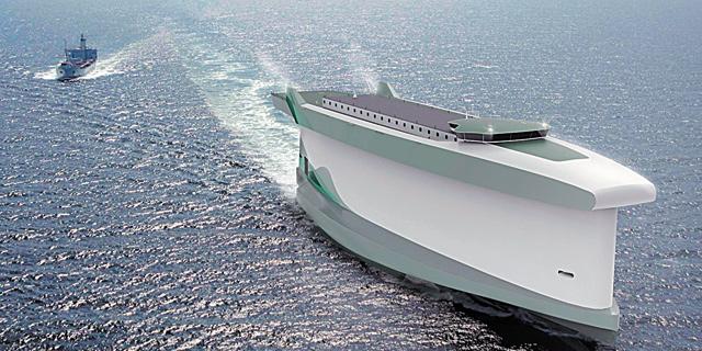 ספינה שגופה משמש כמפרש, לחיסכון של 60% בדלק