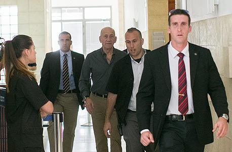 אהוד אולמרט היום בבית המשפט המחוזי בירושלים