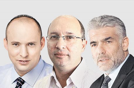 """מימין יאיר לפיד ו אבי ניסנקורן ו נפתלי בנט, עומר מסינגר, אוראל כהן, יח""""צ"""