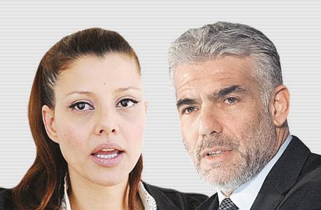 מימין יאיר לפיד ו אורלי לוי, צילום: עומר מסינגר, אפי שריר