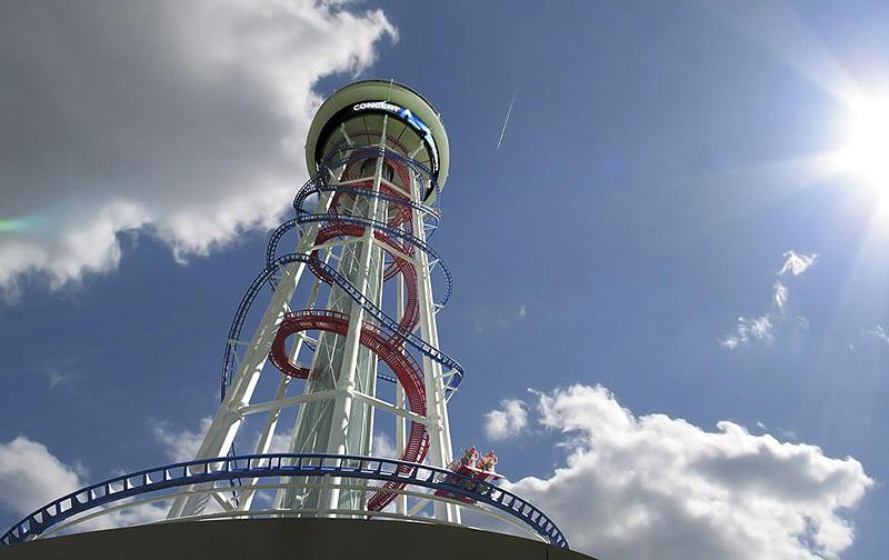 תצלול ותסתחרר מגובה של יותר מ-152 מטרים