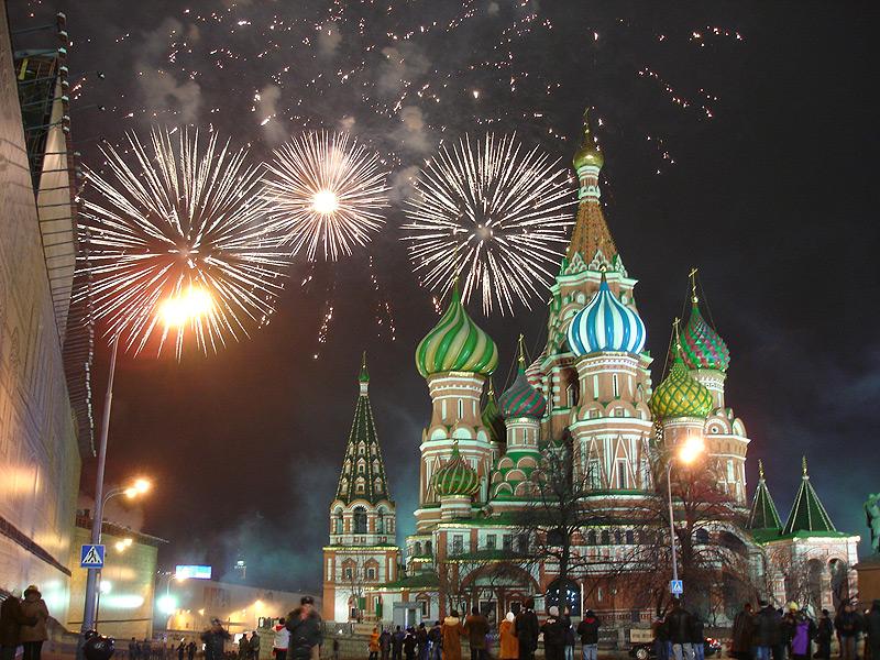 חגיגות השנה החדשה ברוסיה. הכיכר האדומה