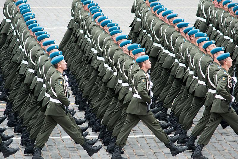 הרצינות מנצחת. חיילים רוסים