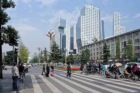 """גורד שחקים בסין. תצמצם את הפער מארה""""ב, צילום:  Iwan Baan"""