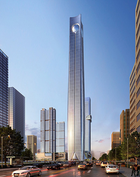 עלות המגדל תעמוד על 1.6 מיליארד דולר, והוא מיועד למגוון שימושים. לפי התכנון, 34 קומות יוקדשו למשרדים, וכן יפתח בו מלון חמישה כוכבים עם 320 חדרים, צילום: Kohn Pedersen Fox Associats