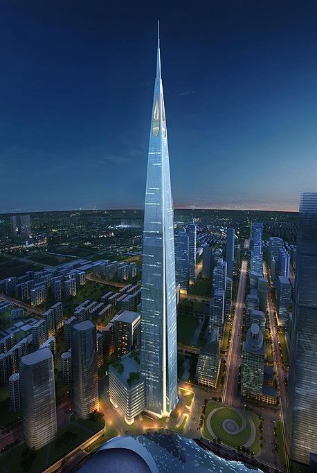 הפרויקט יעלה סכום מוערך של 4.5 מיליארד דולר, ולאחר השלמתו יהפוך לבניין הגבוה, צילום: Kohn Pedersen Fox Associats