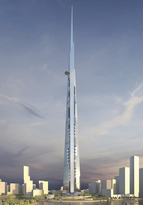 הבנייה עתידה לעלות 1.2 מיליארד דולר, והמבנה יכלול מלון יוקרה, משרדים, דירות יוקרתיות ואת קומת התצפית הגבוהה בעולם. הגובה של המגדל הזה יחייב את התקנת מערכת המעליות המתוחכמת בעולם, ובבניין יהיו 59 מעליות, צילום: Kohn Pedersen Fox Associats