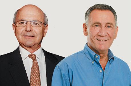 מימין: ראש העירייה משה פדלון ומיקי פדרמן, בעל רשת דן