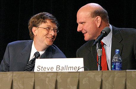 סטיב באלמר, לצד ביל גייטס, צילום: בלומברג