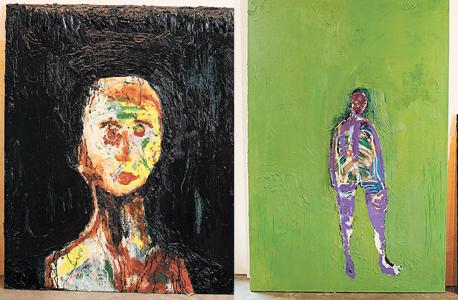 """עבודות של פרופר גולדנברג. """"אני משלמת מחיר על ההתבדלות שלי מאמנים, אבל אני יכולה לשלם את המחיר הזה כי יש לי האפשרות לכלכל את עצמי גם אם אני לא מוכרת בכל יום ציור"""""""