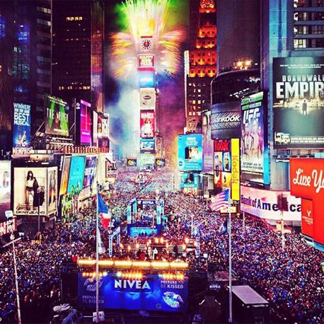 ניו יורק מככבת השנה ברשימה, לאחר שהכניסה שלושה אתרים שונים. טיימס סקוור הוא , צילום: misses_lkaing4