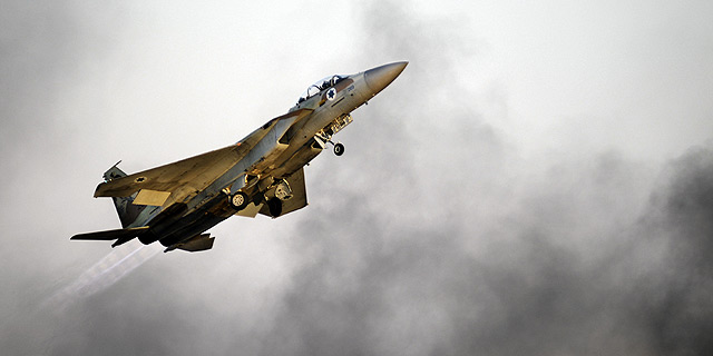 """סיוע מווטסון. F15 של ח""""א ממריא, צילום: יחידת ההסרטה של דובר צה״ל"""