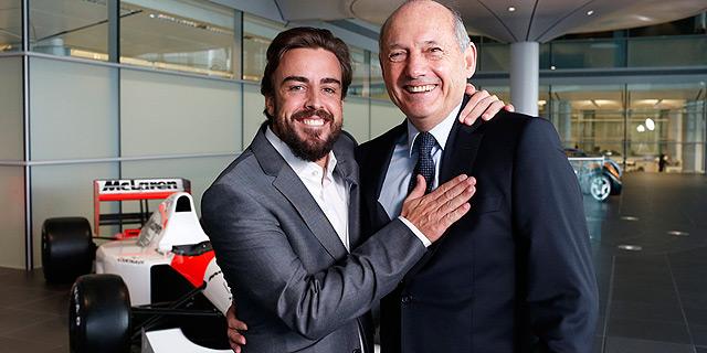 רון דניס ופרננדו אלונסו, צילום: אימג