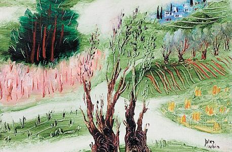 """""""נוף אביבי"""" ראובן רובין. 46 אלף דולר"""