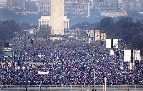 השבעת הנשיא ברק אובמה גבעת הקפיטול וושינגטון, צילום: בלומברג