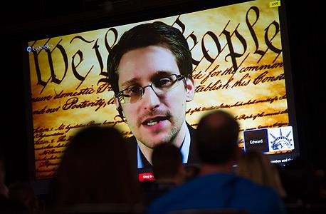 אדוארד סנודן נואם בפסטיבל SXSW. עורר מודעות, צילום: בלובמרג