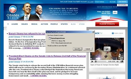 השבעה ברק אובמה האקרים סינים, צילום מסך: superyearcard.com