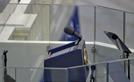 פודיום נואמים נאומים השבעת ברק אובמה גבעת הקפיטול וושינגטון, צילום: בלומברג