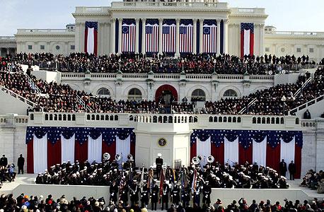 השבעת הנשיא ברק אובמה גבעת הקפיטול וושינגטון, צילום: אי פי אי
