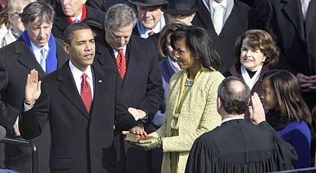השבעת הנשיא ברק אובמה גבעת הקפיטול וושינגטון, צילום: אי פי