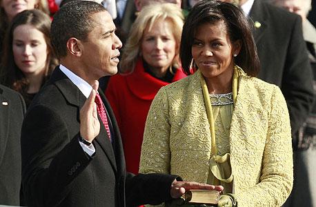 השבעת הנשיא ברק אובמה גבעת הקפיטול וושינגטון, צילום: רויטרס