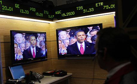 וול סטריט בורסה בורסות ברק אובמה, צילום: בלומברג