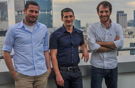 Indegy co-founders Barak Perelman (left), Ido Trivizki and Mille Gandelsman. Photo: Arthur Landa