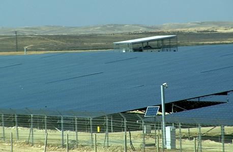 מתקן סולרי ברמת חובב בנגב